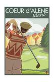 Coeur D'Alene  Idaho - Golfer