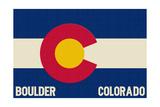 Boulder  Colorado - Colorado State Flag