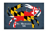 Maryland Flag Crab - St Michaels  Maryland