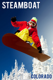 Steamboat  Colorado - Snowboarder