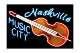 Nashville  Tennesse - Neon Cello Sign