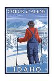 Coeur D'Alene  Idaho - Skier Admiring