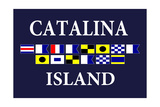 Catalina Island  California - Nautical Flags 2