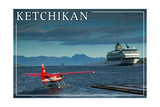 Ketchikan  Alaska - Float Plane and Cruise Ship