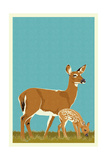 Deer and Fawn - Version 2