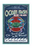 Blue Crabs - Vintage Sign