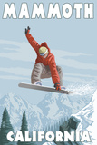 Mammoth  California - Snowboarder Jumping
