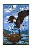 Joseph  Oregon - Wallowa Lake Eagle and Chicks
