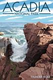 Acadia National Park  Maine - Thunder Hole Day