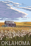 Oklahoma - Wheat Field and Shack