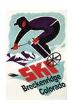 Breckenridge  Colorado - Retro Skier