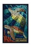 Rehoboth Beach  Delaware - Sea Turtle Mosaic