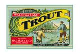 Joseph  Oregon - Wallowa Lake Trout Label