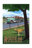 Route 66 - Truck with Tractors