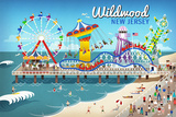Wildwood  New Jersey - Retro Beach Boardwalk