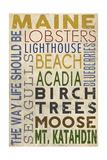 Maine - Typography