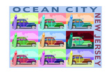 Ocean City  New Jersey - Woody Pop Art
