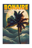 Bonaire  Dutch Caribbean - Palm and Moon