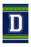 Monogram - Game Day - Blue and Green - D
