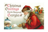 Christmas Greetings from Savannah  Georgia - Santa Getting Letter