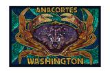 Anacortes  Washington - Dungeness Crab Mosaic