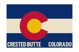 Crested Butte  Colorado - Colorado State Flag