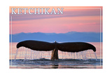 Ketchikan  Alaska - Humpback Fluke and Sunset
