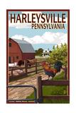 Harleysville  Pennsylvania - Barnyard Scene