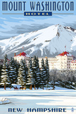 Mount Washington Hotel in Winter - Bretton Woods  New Hampshire