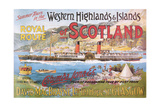 Steamship Royal Route of Scotland - Vintage Poster