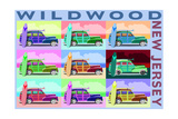 Wildwood  New Jersey - Woody Pop Art