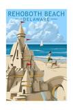 Rehoboth Beach  Delaware - Sandcastle