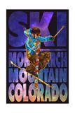 Monarch Mountain  Colorado - Milky Way Skier