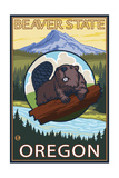 Ashland  Oregon - Beaver and Mountain