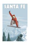 Santa Fe  New Mexico - Jumping Snowboarder