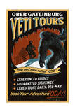 Ober Gatlinburg  Tennesse - Yeti Tours - Vintage Sign