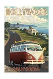 Hollywood  California - VW Van Coastal