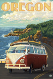 VW Van Cruising the Oregon