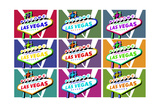 Las Vegas  Nevada - Welcome Sign Pop Art