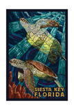 Siesta Key  Florida - Sea Turtle - Mosaic