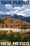 Taos Pueblo  New Mexico - Ruins Scene