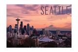 Seattle  Washington - Skyline at Twilight