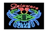 Delaware - Blue Crab Neon Sign