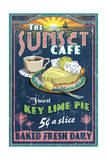 Key Lime Pie - Vintage Sign