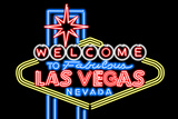 Las Vegas  Nevada - Neon Lights Welcome Sign