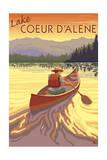 Coeur D'Alene  Idaho - Canoe Scene