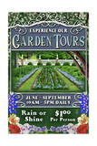 Garden Tours - Vintage Sign