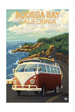 Bodega Bay  California - VW Van Coastal