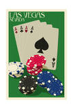Las Vegas  Nevada - Poker Cards and Chips