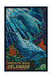 Rehoboth Beach  Delaware - Dolphin Mosaic